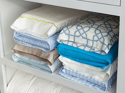 Store sheets in pillow cases